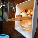 Salted-caramel ice cream with popcorn is crackerjackerific!