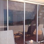 Huge sliding glass doors to balcony
