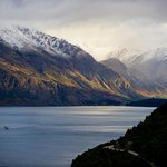 Awesome view of Lake Wakatipu and the TS Earnslaw