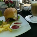 Cafe opposite Ping Hotel  Great Burger and Coffee