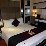 Double bedroom, with complimentary laptop