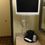 Tv in bathroom!