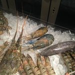 Fresh shellfish at Azur restaurant