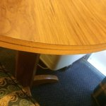 work desk/dinette table with missing edge