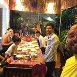 Dinner with the staff and friends