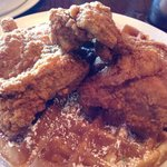 CHICKEN AND WAFFLES! The best ever!!! Must have.