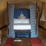 Four poster... like a private Moroccan cave.