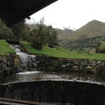 View outside restaurant of El Cajas
