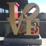 One of Robert Indiana's LOVE installations