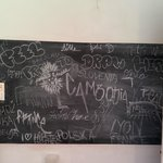 Blackboard in the kitchen