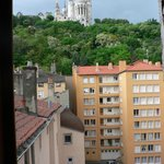 View from window of Notre Dame cathedral on Fourviere hill