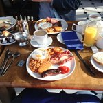 Our huge and delicious full english breakfast at the hotel