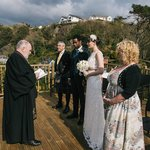 Getting married on the decking at Alt Na Craig
