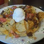 Hefty size of Nachos Supreme - yummy!!!