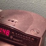 Dusty alarm clock.