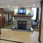 Fireplace in lobby