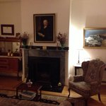 Beautiful sitting room on first floor of Salem Inn.