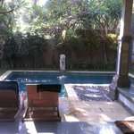 Private pool and courtyard (1 bedroom villa)