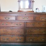 Old chest of drawers with missing handles