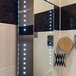 Bathroom with fancy lights :)