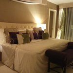 A million pillows on the bed of the Presidential Suite
