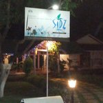 Sidz cottage night time..
