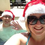 A Christmas Day dip in the pool