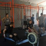 Working out at Crossfit Elviria.