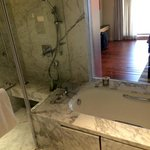 marble tub, separate shower