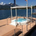Jacuzzi  right on lake - also an outdoor heated pool