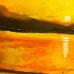 A sunrise on the Mar Menor painted by TomC