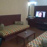 Hall of the Executive Suite with two single beds and LCD Tv