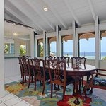 Dining room over looking ocean