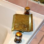 stained brass fixtures in tact