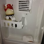 Tiny in-room fridge