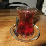 Turkish tea in the lobby