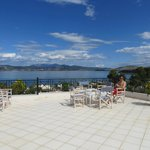 big terras for all guests on the top floor