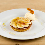Treacle Tart with Caramelised Banana