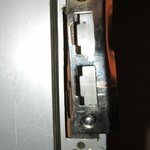Damaged lock/strike plate