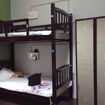 The 6-bedded dorm room