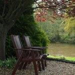 One of the Seating Areas in garden by river
