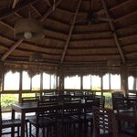 inside tiki dining room