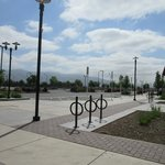 Bike area and view from Pacific Commons Fremont CA