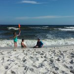 The Pearl of Navarre Beach Foto