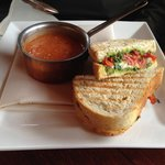 Veggie Panino with Tomato Gorgonzola soup