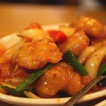 Sweet and sour battered pork.