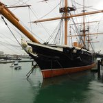 HMS Warrior, Royal Dockyard Portsmouth, 1/2 block from George Hotel