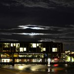 """The hotel from the beach in """"moonlight"""""""