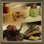 Collage of meals from Embers Bar and Grill