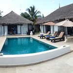 private pool in the 3 bedrooms villa